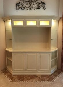 Custom Wall Unit - White Paint Finish