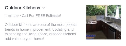 Facebook Services - Outdoor Kitchens