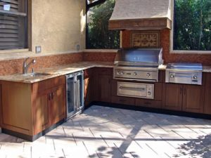 Outdoor Kitchens - African Mahogany Doors and Panels - Espresso Stain - Exterior Polyurethane Finish - 005