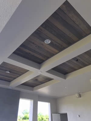 Dark Shiplap Tongue and Grove Ceilings - Fort Myers Florida - Sunset Custom Cabinetry and Woodwork - 239-771-8652 - 300 x 400