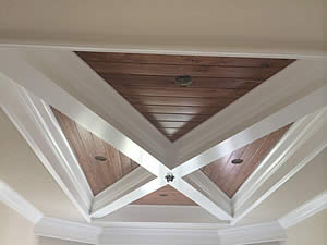 Dark Tongue and Grove Wood Coffered Ceiling - Fort Myers Florida - Sunset Custom Cabinetry and Woodwork - 239-771-8652 - 300 x 225