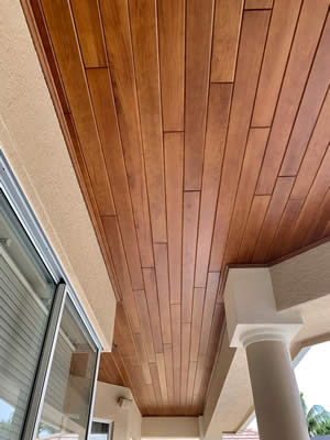 Tongue and Grove Ceilings Installer - Fort Myers Florida - Sunset Custom Cabinetry and Woodwork - 239-771-8652 - 300 x 400