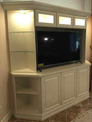 Corner TV Cabinets - Sunset Custom Cabinetry and Woodwork - Fort Myers Florida
