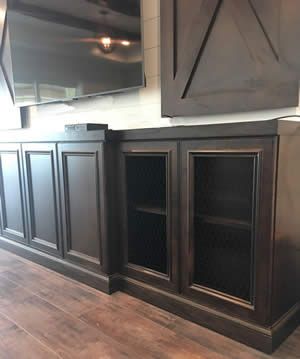 Custom TV Consoles - Sunset Custom Cabinetry and Woodwork - Fort Myers Florida