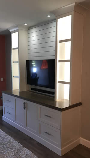 Custom TV Stands - Sunset Custom Cabinetry and Woodwork - Fort Myers Florida