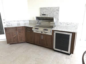 Outdoor Kitchen Cabinets - Sunset Custom Cabinetry and Woodwork - - Fort Myers Florida