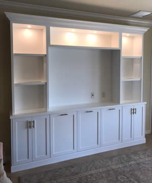 TV Centers - Sunset Custom Cabinetry and Woodwork - Fort Myers Florida