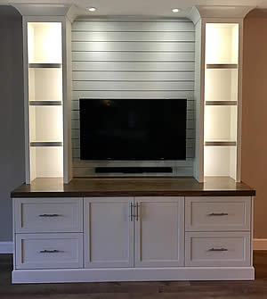 TV Console Tables - Sunset Custom Cabinetry and Woodwork - Fort Myers Florida