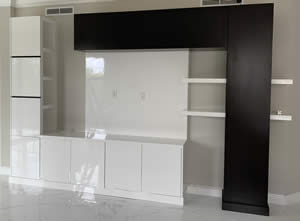 Custom Wall Unit With Shelves and TV Stand