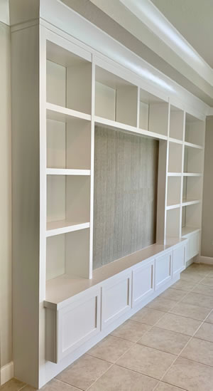 TV Wall Units - Sunset Custom Cabinetry and Woodwork - Fort Myers Florida