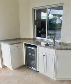Outside Kitchens - Sunset Custom Cabinetry and Woodwork - - Fort Myers Florida - 300 x 357