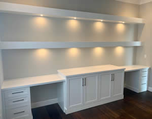 Built In Office Cabinets - Fort Myers Florida - Sunset Custom Cabinetry and Woodwork - 300 x 235