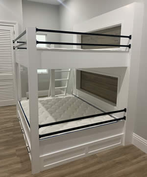 Custom Bunk Beds - Fort Myers Florida - Sunset Custom Cabinetry and Woodwork - 300 x 360